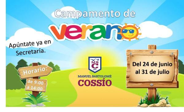 CAMPAMENTO DE VERANO COLEGIO M. B. COSSÍO