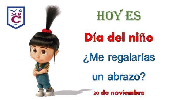 20 de noviembre. Día de los Derechos del Niño.